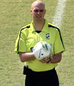 Pablo dos Santos Alves, árbitro capixaba Aspi/Fifa (Foto: Reprodução/TV Gazeta)