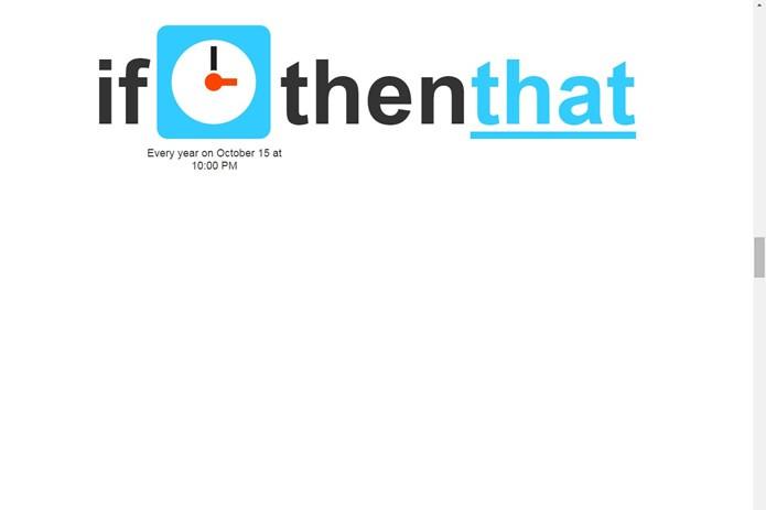"""Configurado o """"Date & Time"""", aperte na palavra """"That"""" para escolher e determinar as ações do Facebook (Foto: Reprodução/Daniel Ribeiro)"""