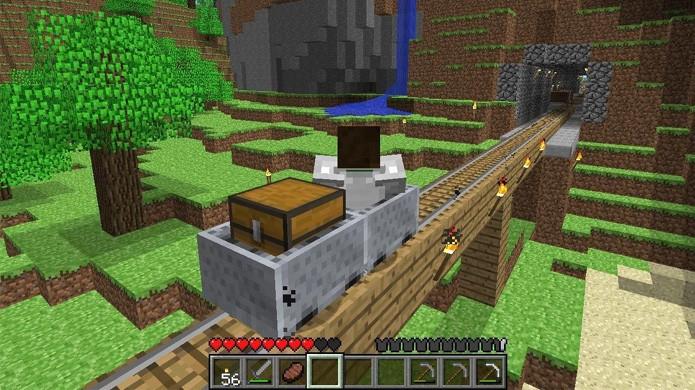 Minecraft confundiu alguns jogadores com as trocas de comando para o carrinho de mina (Foto: Reprodução/The Minecraft Mine)