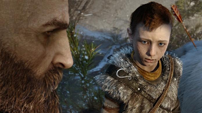 Filho de Kratos em God of War será o motivo da transformação do personagem (Foto: Reprodução/PlayStation Blog) (Foto: Filho de Kratos em God of War será o motivo da transformação do personagem (Foto: Reprodução/PlayStation Blog))