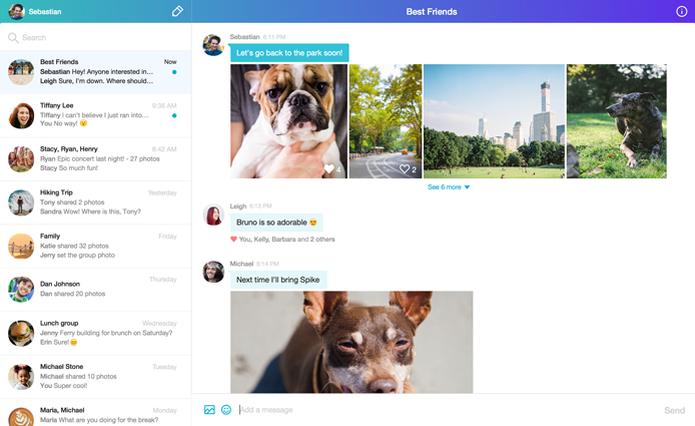 Novo Yahoo Messenger tem compartilhamento de fotos em alta resolução (Foto: Divulgação/Yahoo)