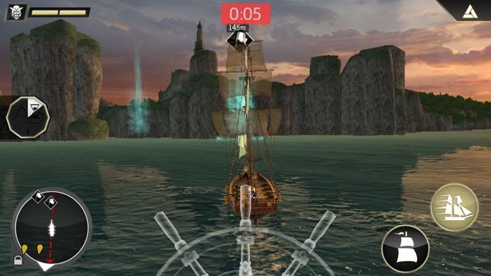 Para inciar um combate, aproxime-se dos navios que aparecem no mapa (Foto: Divulgação/Ubisoft)