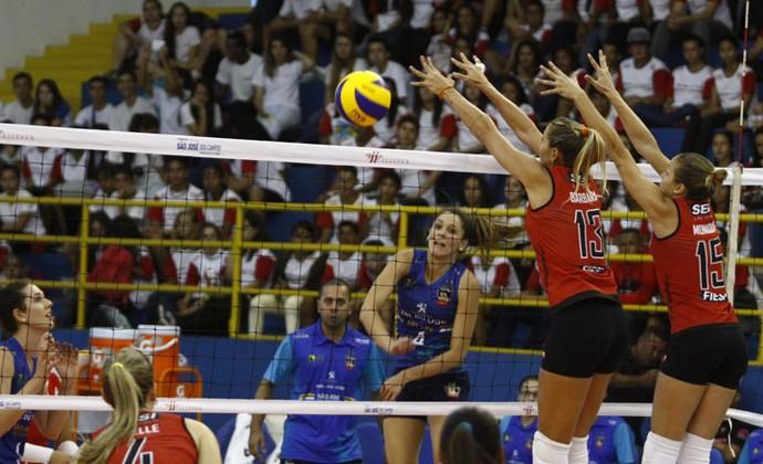 São José Sesi-SP Vôlei Superliga feminina (Foto: Antônio Basílio/ PMSJC)