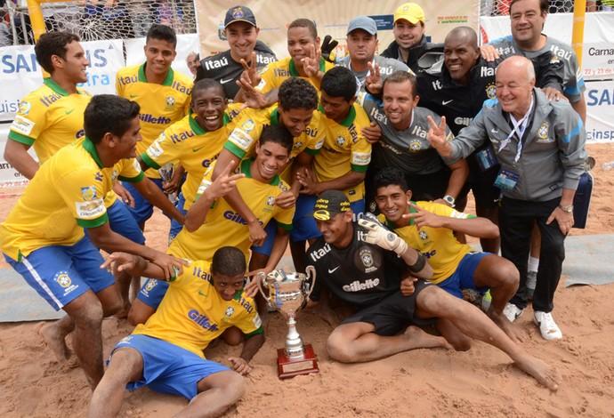 Futebol de Areia - Seleção Brasil (Foto: beachsoccer.com)