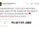 Valesca gasta seu inglês para dar parabéns a Demi Lovato e Nicki Minaj