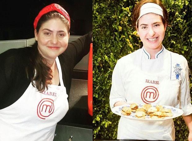 Izabel Masterchef - Antes e depois (Foto: Reprodução/Instagram)