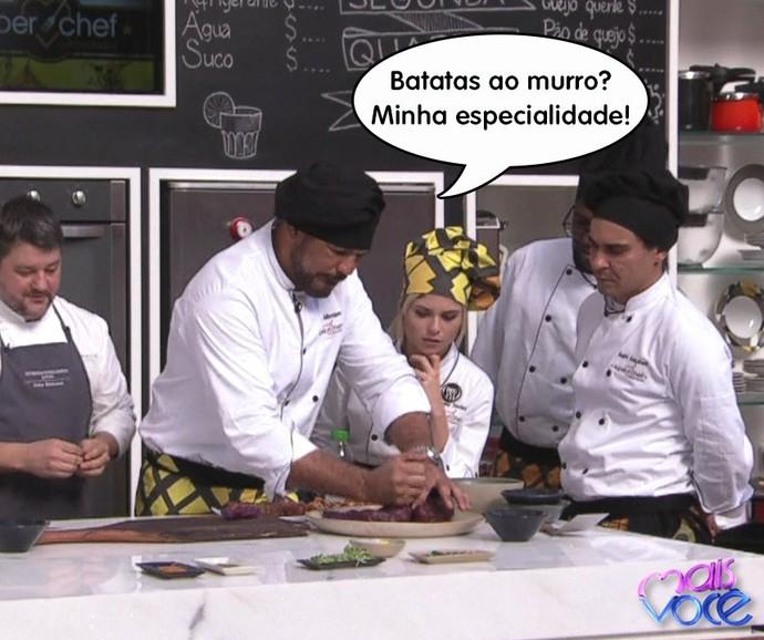 Minotauro empolgado no Super Chef Celebridades (Foto: TV Globo/Gshow)