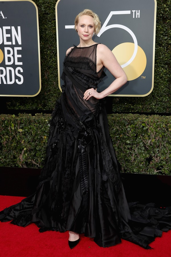 BEVERLY HILLS, CA - JANUARY 07:  Gwendoline Christie attends The 75th Annual Golden Globe Awards at The Beverly Hilton Hotel on January 7, 2018 in Beverly Hills, California.  (Photo by Frederick M. Brown/Getty Images) (Foto: Getty Images)