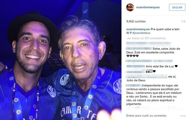 Médium goiano João de Deus foi fotografado ao lado de André Marques, no Rio de Janeiro (Foto: Reprodução/Instagram)