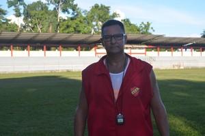 Técnico do Santana, Samuel Oliveira (Foto: Rafael Moreira/GE-AP)