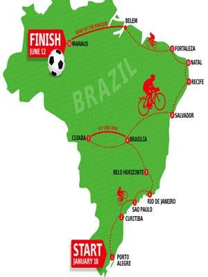 Roteiro de viagem de bicicleta de britânico (Foto: Divulgação/Prefeitura de Porto Alegre)