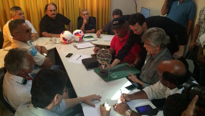 Sorteio Campeonato Potiguar (Foto: Jocaff Souza/GloboEsporte.com)