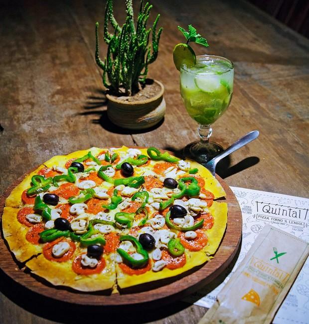 Pizza de pepperoni da Quintal: uma das mais pedidas (Foto: Divulgação)