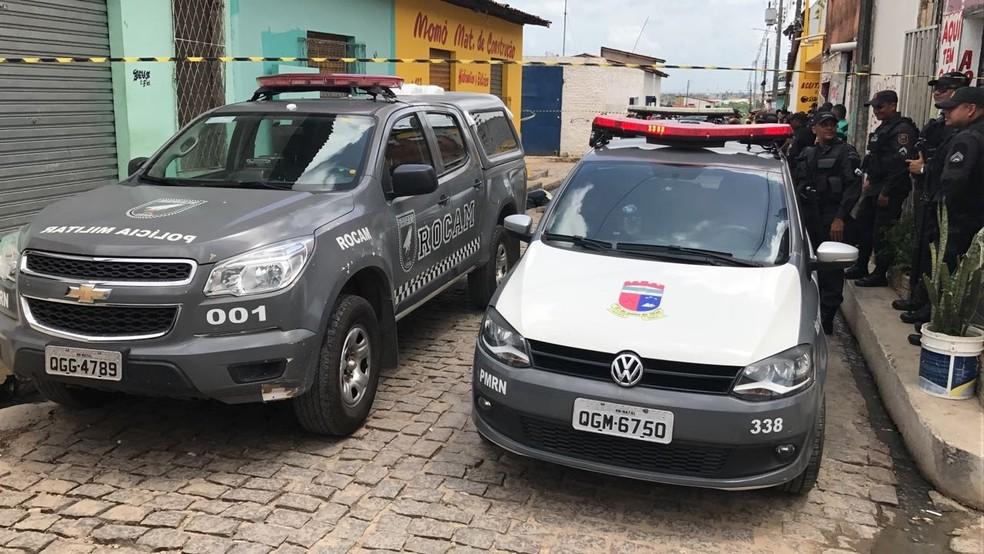 Crime aconteceu na manhã desta quinta-feira (6) em Golandim, em São Gonçalo do Amarante (Foto: Clayton Carvalho/Inter TV Cabugi )