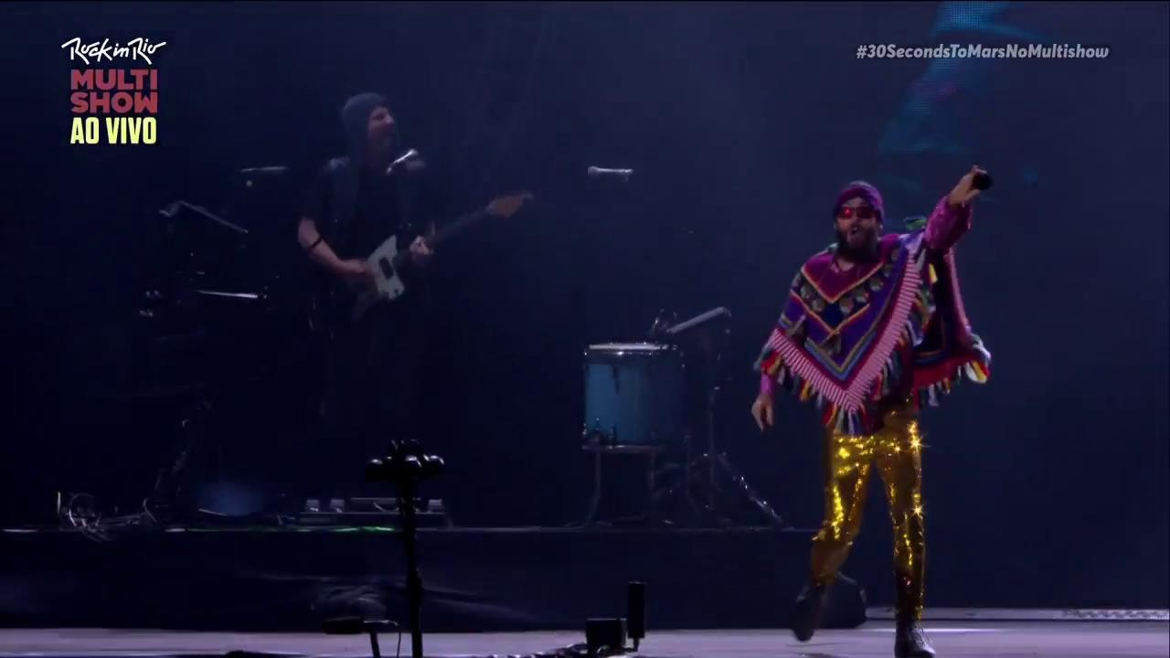 30 Seconds To Mars no Palco Mundo (Foto: Multishow)