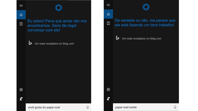 Novidades na Cortana mostram o que ela pensa do Papai Noel (Foto: Reprodução/Windows)