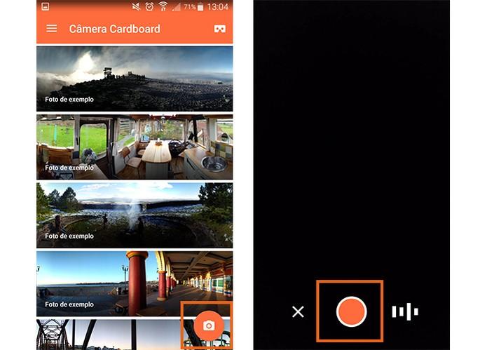 Inicie o registro da foto em 360 graus no celular (Foto: Reprodução/Barbara Mannara)