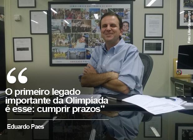 Eduardo Paes fala sobre Olimpíadas (Foto: Lilian Quaino/G1)