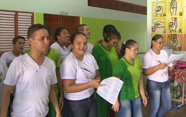 Programação marca o Dia Internacional da Símdrome de Down, em Macapá (Foto: Amapá TV)