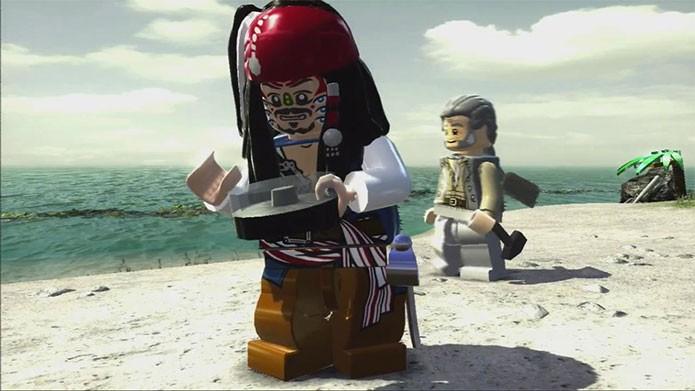 Lego Pirates of the Caribbean, com Capitão Jack Sparrow (Foto: Divulgação)