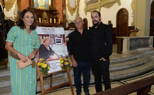 Missa de 7º Dia de Vida Alves (Foto: Francisco Cepeda/AgNews)