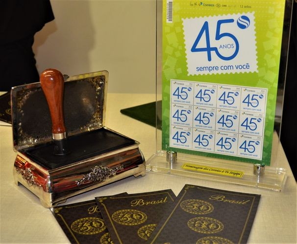 Correios criam selo especial em homenagem aos 45 anos da TV Sergipe (Foto: Divulgação / TV Sergipe)