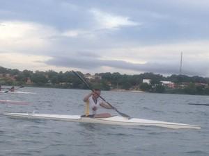 A canoísta do Tocantins, Ediléia Matos, ficou em 17º na categoria júnior do ranking mundial (Foto: Vilma Nascimento/GLOBOESPORTE.COM)