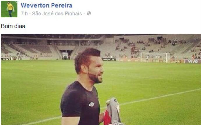 Weverton Atlético-PR (Foto: Reprodução/ Facebook)