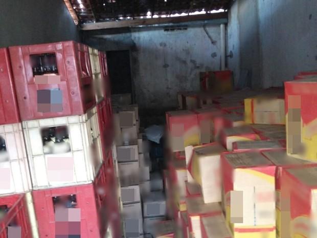 parte da carga foi encontrado em garagem no município de Vertentes (Foto: Divulgação/Polícia Militar)