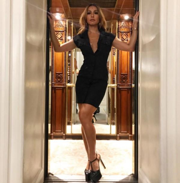 Sabrina Sato postou uma foto durante sua estada no hotel Belmond Copacabana Palace (Foto: Reprodução / Instagram)