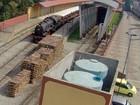 Imagem mostra caixa d´água da estação de Guararema destampada