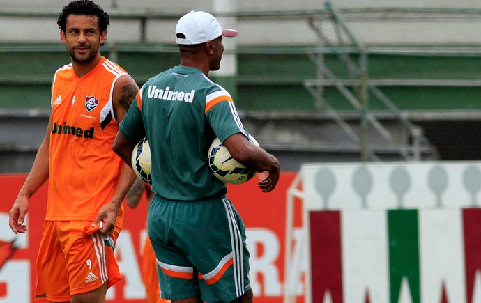 Fred e Cristóvão Borges Treino Fluminense (Foto: Nelson Perez/Fluminense FC)