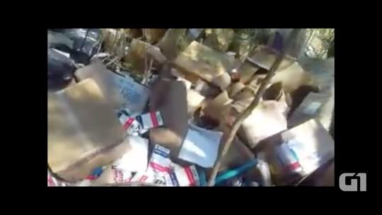 Motorista flagra descarte irregular  de remédios e seringas na RJ-124