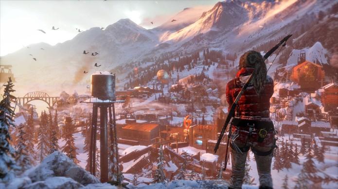Rise of the Tomb Raider às vezes traz áreas tão grandes que a sensação é de um mundo aberto para explorar (Foto: Reprodução/GameSpot)