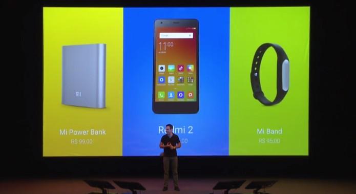 Xiaomi chega ao Brasil com Redmi 2, smartband e carregador (Foto: Reprodução)
