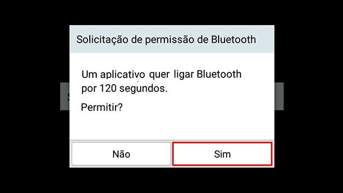Ative o Bluetooth no tablet (Foto: Reprodução/Paulo Alves)