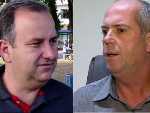 Honorato (esq.) entrou com medida para pedir anulação da eleição em que Souza venceu (Foto: Reprodução/RBS TV)