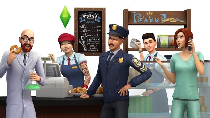 The Sims 4: Ao Trabalho traz novas profissões e a chance de abrir sua própria empresa (Foto: Divulgação)