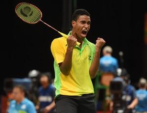 Ygor Coelho de Oliveira; badminton (Foto: ANDRÉ DURÃO/Globoesporte.com/NOPP)
