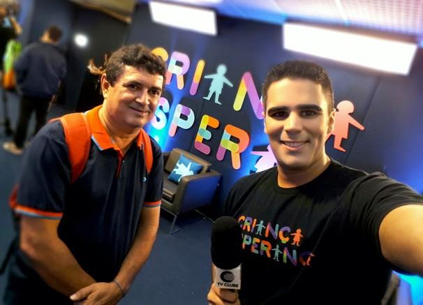 Fernando Cardoso e Helder Vilela no Criança Esperança (Foto: TV Clube)