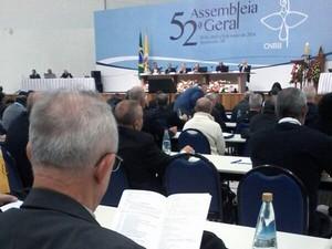 Assembleia Geral dos Bispos do Brasil é realizada no Santuário Nacional de Aparecida (Foto: Edgar Rocha/ TV Vanguarda)