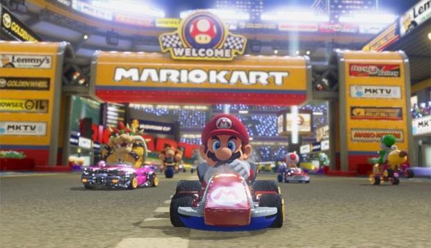 Mario acelera em 'Mario Kart 8' (Foto: Divulgação/Nintendo)