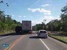 Vídeo flagra manobras perigosas de caminhão na BR-101, no ES