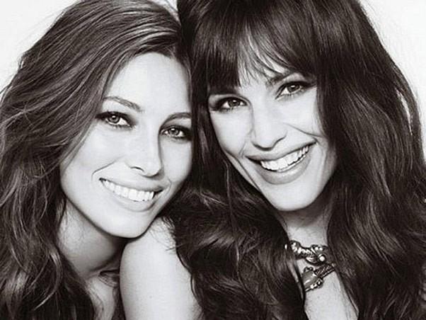Amigas de set: Jessica Biel e Jennifer Garner (Foto: Divulgao)