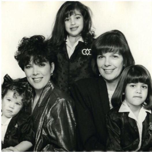 Kim Kardashian mostra foto antiga da família (Foto: Reprodução do Instagram)