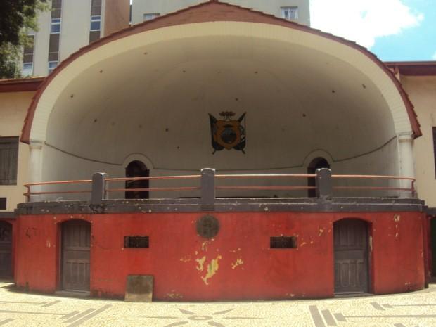 Concha Acústica é patrimônio histórico de Ponta Grossa  (Foto: Divulgação/Fundação Municipal de Cultura )