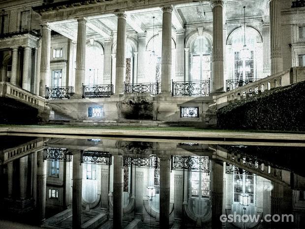 A piscina é parada certa da festa... Muitos mistérios acontecerão por ali (Foto: Fábio Rocha / TV Globo)