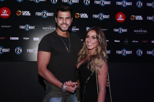 Nicole Bahls e Marcelo Bimbe (Foto: Anderson Barros / EGO)