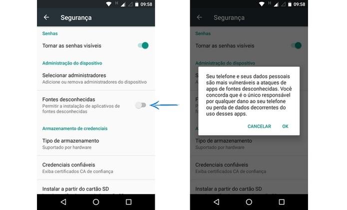 Permissão para Android instalar apps de fontes desconhecidas (Foto: Reprodução/ Raquel Freire) (Foto: Permissão para Android instalar apps de fontes desconhecidas (Foto: Reprodução/ Raquel Freire))