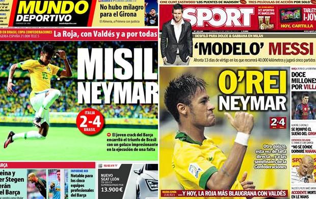 jornal Neymar Sport Mundo Desportivo (Foto: Reprodução)